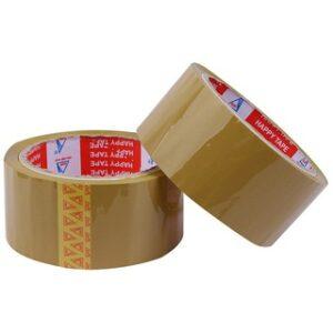 2 cuộn băng keo dán thùng màu nâu