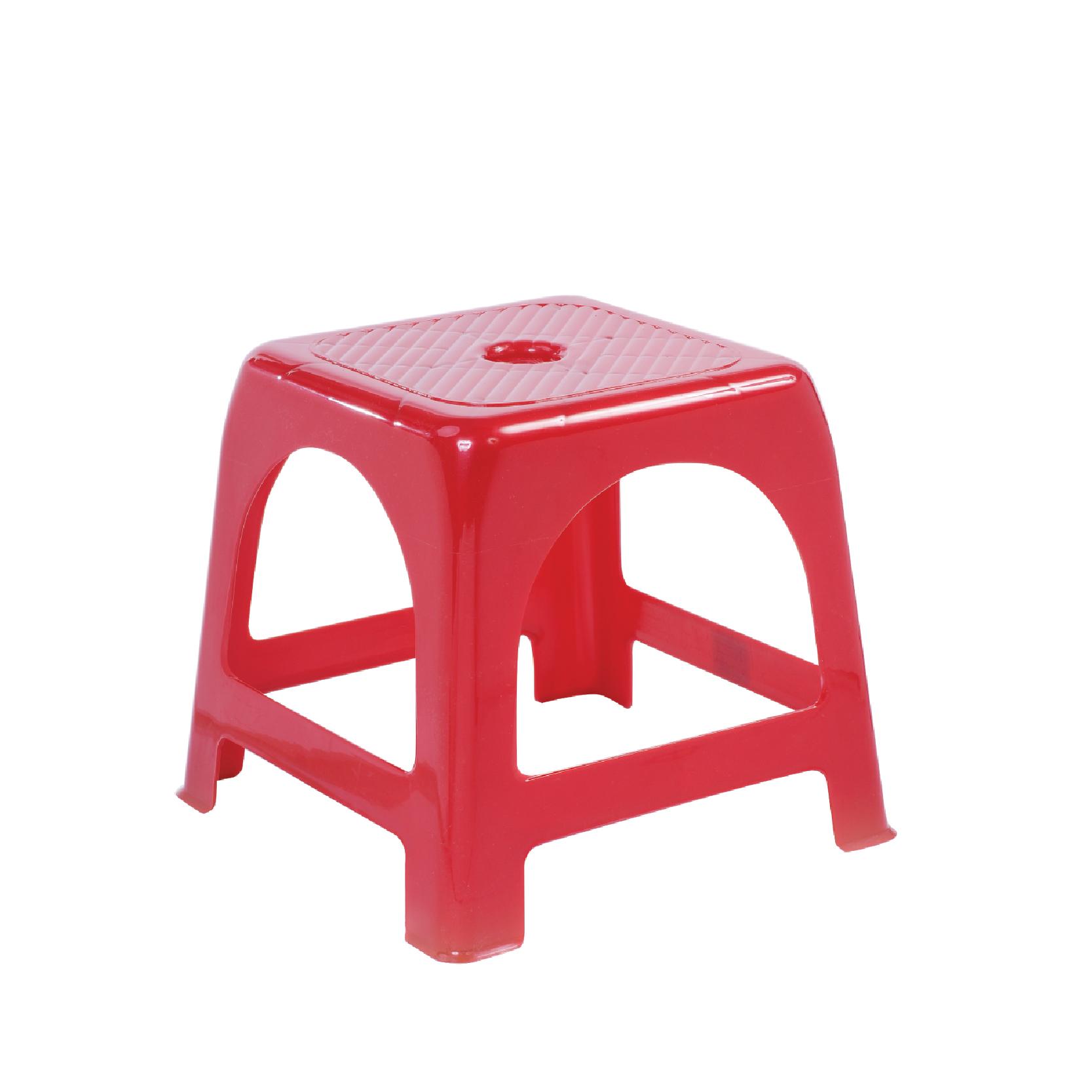 Ghế nhựa chữ A [Màu đỏ - Ghế lùn]